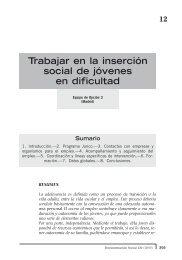 Trabajar en la inserción social de jóvenes en dificultad
