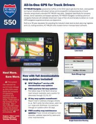 All-In-One GPS for Truck Drivers