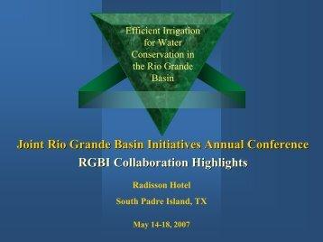 Allen Sturdivant, Ron Lacewell & Ed Rister - 2013 Rio Grande Basin ...