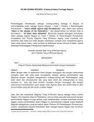 1 ISLAM AGAMA NEGARA: Undang-Undang Tertinggi Negara ...