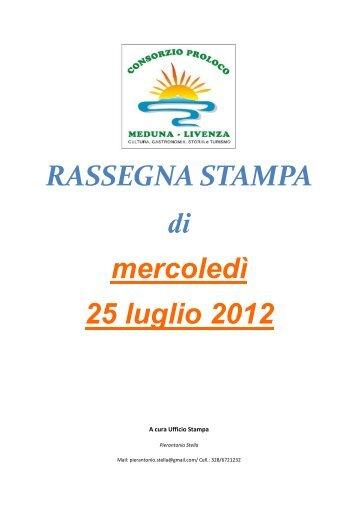Rassegna stampa di mercoledì 25 luglio 2012 - Atap