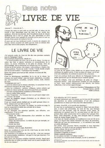 LE LIVRE DE VIE - Icem