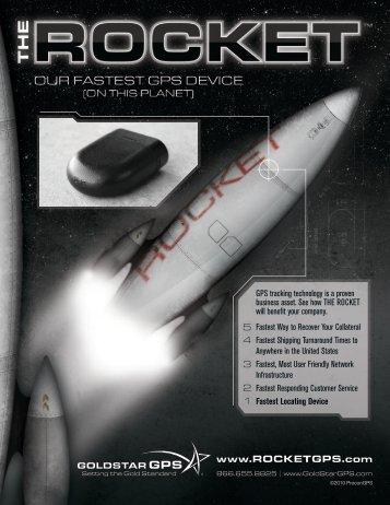 Download The Rocket Brochure (PDF) - GoldStar GPS