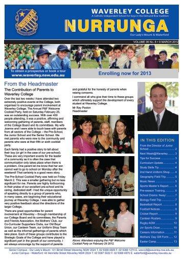 Nurrunga Online Vol 36 No 06 (09/03/12) - Waverley College