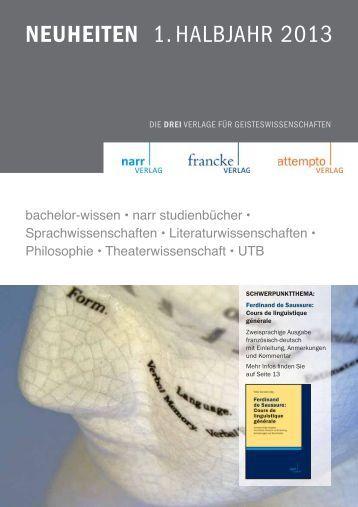 NEUHEITEN 1. HALBJAHR 2013 - Narr.de