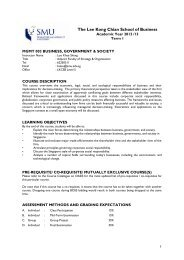 Course Outline Template - Singapore Management University