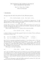 The θ-methods in the numerical solution of delay differential ...