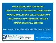 applicazione di un trattamento metacognitivo di gruppo per ... - Aidai