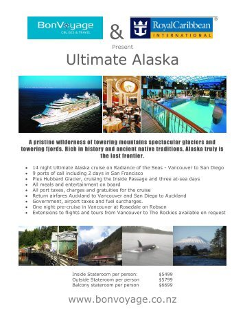Ultimate Alaska - Bon Voyage Cruises & Travel