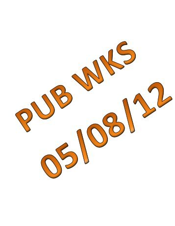 05/08/12 Mauston Public Works Committee Agenda Packet