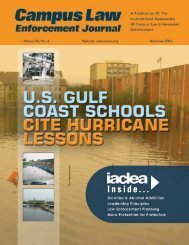 May/June 2006 Campus Law Enforcement Journal - IACLEA
