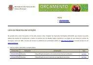 LISTA DE PROJETOS EM VOTAÇÃO - Câmara Municipal de Vila ...