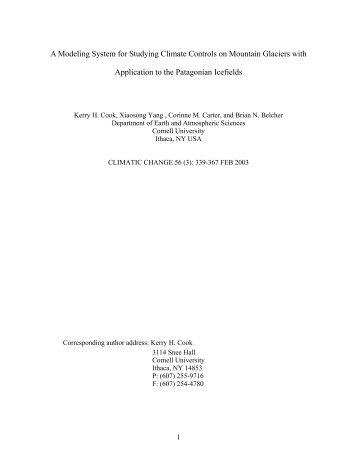 Cook, K.H., X. Yang, C.M. Carter, and B.N. ... - Cornell University