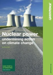 Nuclear Power - Undermining action on climate change - Greenpeace