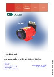 Operating Manual - CANopen - TR Electronic
