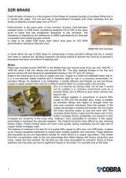 Download DZR Brass Certificate - Cobra