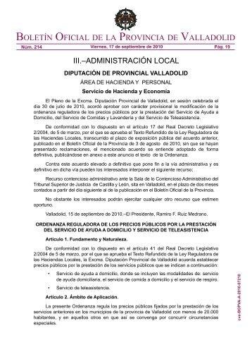 Ordenanza SAD y STA 2010 efectos 1 de octubre 2010