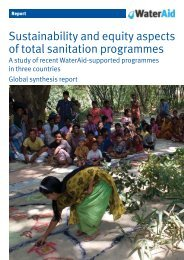 Sustainability and equity aspects of total sanitation ... - WaterAid