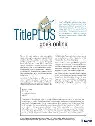 TitlePLUS goes online - practicePRO.ca