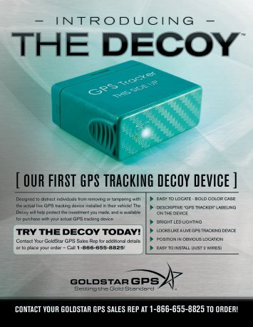 [ our first GPs trackinG decoy device ] - GoldStar GPS