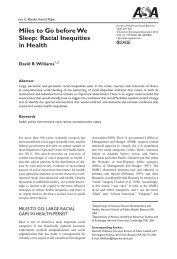 Racial Inequities in Health - Unnatural Causes