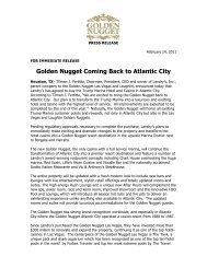 Golden Nugget Coming Back To Atlantic City