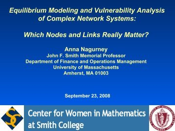Equilibrium Modeling and Vulnerability Analysis of Complex ...
