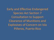 Early and Effective Endangered Species Act Section 7 ... - E2S2