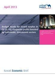Kuwait Economic Brief - National Bank of Kuwait