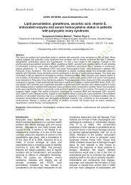 Lipid peroxidation, glutathione, ascorbic acid, vitamin E