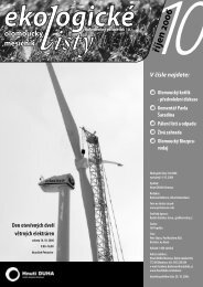 Ekologické listy 10/2006 říjen - Hnutí DUHA