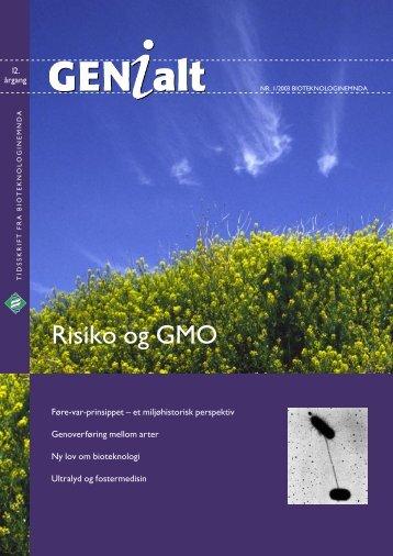 Last ned GENialt 1/2003 (pdf). - Bioteknologinemnda