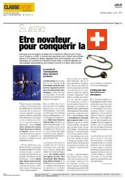 Magazine Classe-Export - Travailler en Suisse