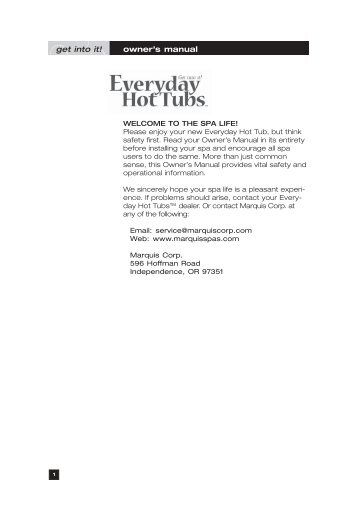 Everyday Hot Tubs - Marquis Spas