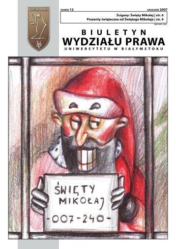 Grudzień 2007 - Wydział Prawa Uniwersytetu w Białymstoku