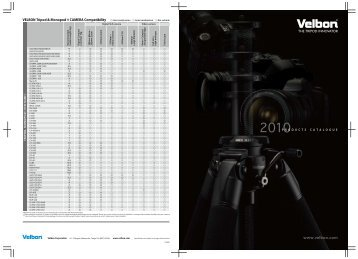 Download Velbon Katalog 2010 (Englisch) - HS Imaging GmbH