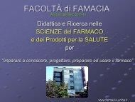 FACOLTÀ DI FARMACIA - Farmacia - Università degli Studi di Bari
