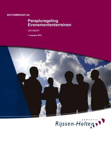 Conceptregeling parapluplan - Gemeente Rijssen-Holten