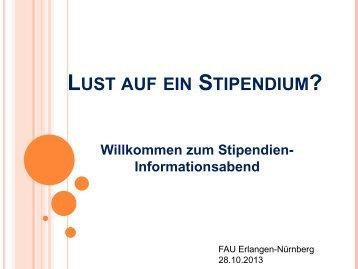 Stipendien-Infoabend - Graduiertenschule der FAU