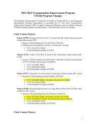 CMAQ Program Updated - Regional Transportation Commission of ...