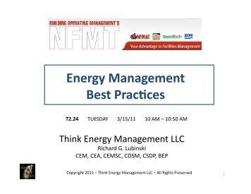 Best Practices in Energy Management - NFMT