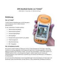 GPS Handheld Geräte von Trimble® Einführung - Vorarlberg