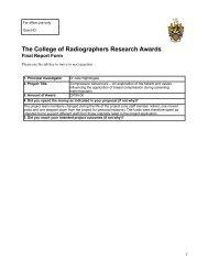 CoRfinalreportform Nightingale 060 - Society of Radiographers
