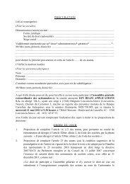 PROCURATION Le(La) soussigné(e) : (Pour les sociétés ... - IBA