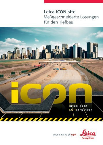 Leica iCON site - Leica Geosystems