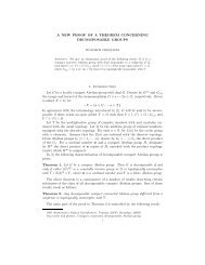 A NEW PROOF OF A THEOREM CONCERNING DECOMPOSABLE ...