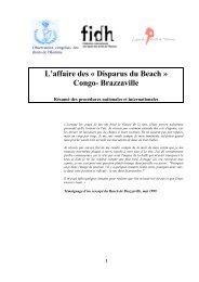 L'affaire des « Disparus du Beach » Congo- Brazzaville - FIDH