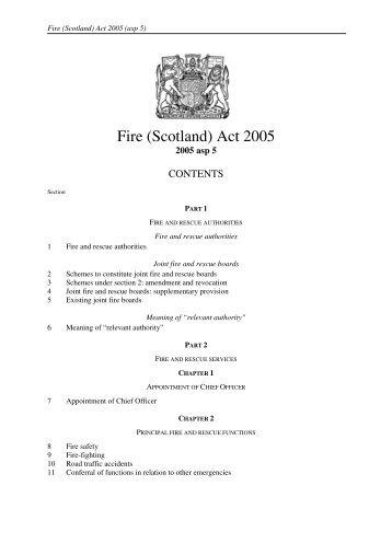 Fire (Scotland) Act 2005 - Legislation.gov.uk