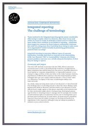 Integrated reporting: The challenge of terminology - Black Sun Plc