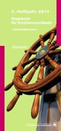 2. Halbjahr 2013 Angebote für Kirchenvorstände